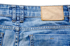 Blank jeans label Stock Photos