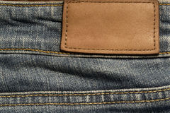 Blank jeans leather label Royalty Free Stock Photography