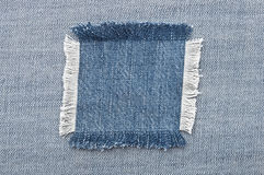 Blank jeans patch Royalty Free Stock Image