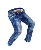 Blank jeans walking in the air Royalty Free Stock Photography