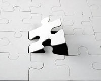 Blank jigsaw Stock Image
