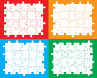 Blank jigsaw pieces Stock Images