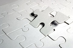 Blank jigsaw puzzle Royalty Free Stock Photo