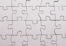 Blank jigsaw puzzle Stock Photography