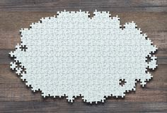 Unfinished Blank Jigsaw Puzzle royalty free stock photography