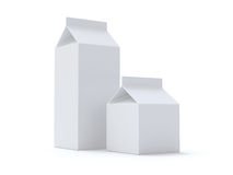 Blank or Juice Milk Boxes Royalty Free Stock Photo
