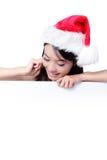 blank julflicka för affischtavla som visar barn royaltyfria foton