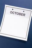 blank kalender Fotografering för Bildbyråer
