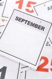 blank kalender Arkivfoto