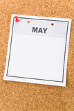 blank kalender arkivbilder