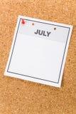 blank kalender Royaltyfria Foton