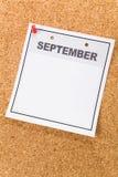 blank kalender Arkivfoton