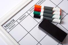 blank kalenderwhite Arkivbild