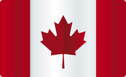 blank Kanada flagga Royaltyfria Bilder