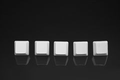 Blank keyboard buttons Royalty Free Stock Images