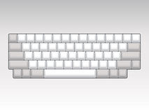 Blank keyboard layout Stock Photography