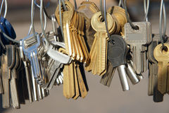 Blank keys Royalty Free Stock Photos