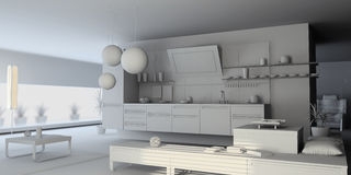Blank kitchen Stock Images