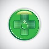 Blank knapp för medicinskt tecken Arkivfoton