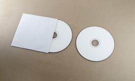 Blank kompakt disk Fotografering för Bildbyråer