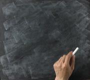 blank kritahand för blackboard Royaltyfri Bild