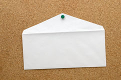 blank kuvertwhite Royaltyfri Fotografi