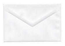 blank kuvertwhite Royaltyfri Bild