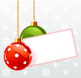 Blank  label with Christmas decoration Stock Image