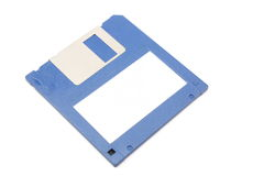 Blank label floppy disk. Stock Photos