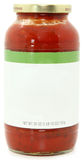 Blank Label Jar of Spaghetti Sauce Royalty Free Stock Photography