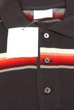 New men's shirt. Blank label on new men's shirt Stock Images