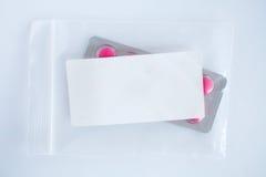 Blank label prescription sachet Royalty Free Stock Image