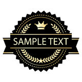 Blank label with ribbon Royalty Free Stock Photo