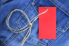 Blank label for text on jeans Stock Photos