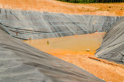 Blank landfill for municipal waste treatment Stock Images