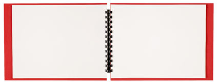 Blank Landscape Format Spiral Bound Book Revised Royalty Free Stock Images