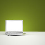 Blank laptop screen. Clipping path included