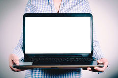 Blank laptop screen Royalty Free Stock Photography