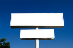 Blank Large Advertising Billboard Sign Royalty Free Stock Photos