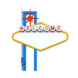 Blank Las Vegas Welcome Sign. Isolated on white background. 3D render Stock Photography