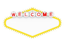 Blank Las Vegas Welcome Sign Isolated. On white background. 3D render royalty free illustration