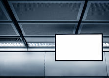 Blank LCD Screen displayin Subway station Royalty Free Stock Photography