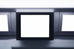 Blank Lcd screen light box template display Commercial ads Stock Images