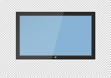 A blank LCD screen, plasma displays or TV to your design. A blank LCD screen, plasma displays or TV to your design Royalty Free Stock Photos