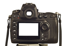 Blank LCD Screen and Viewfinder on Modern Digital Camera Revised 2 Stock Photography