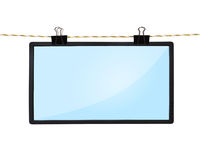 Blank LCD tv screen Royalty Free Stock Photos