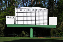 Blank Leader Board at Masters Stock Photography