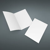 Blank leaflet mock up in A4 size Stock Photography