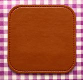 Blank leather brown label Stock Image