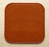 Blank leather brown label Stock Photos